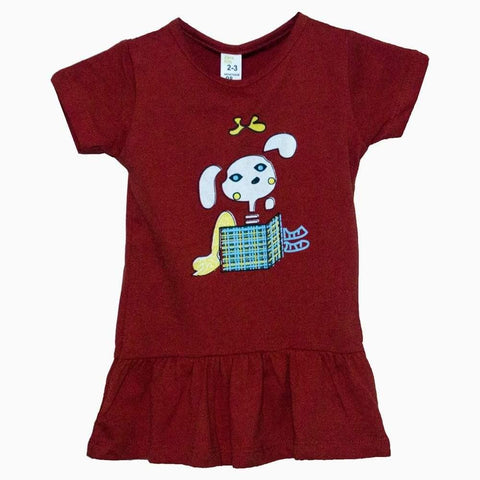 Zara rabbit print Red girls dress