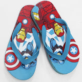 AVENGERS Light Blue Rubber Flip Flops