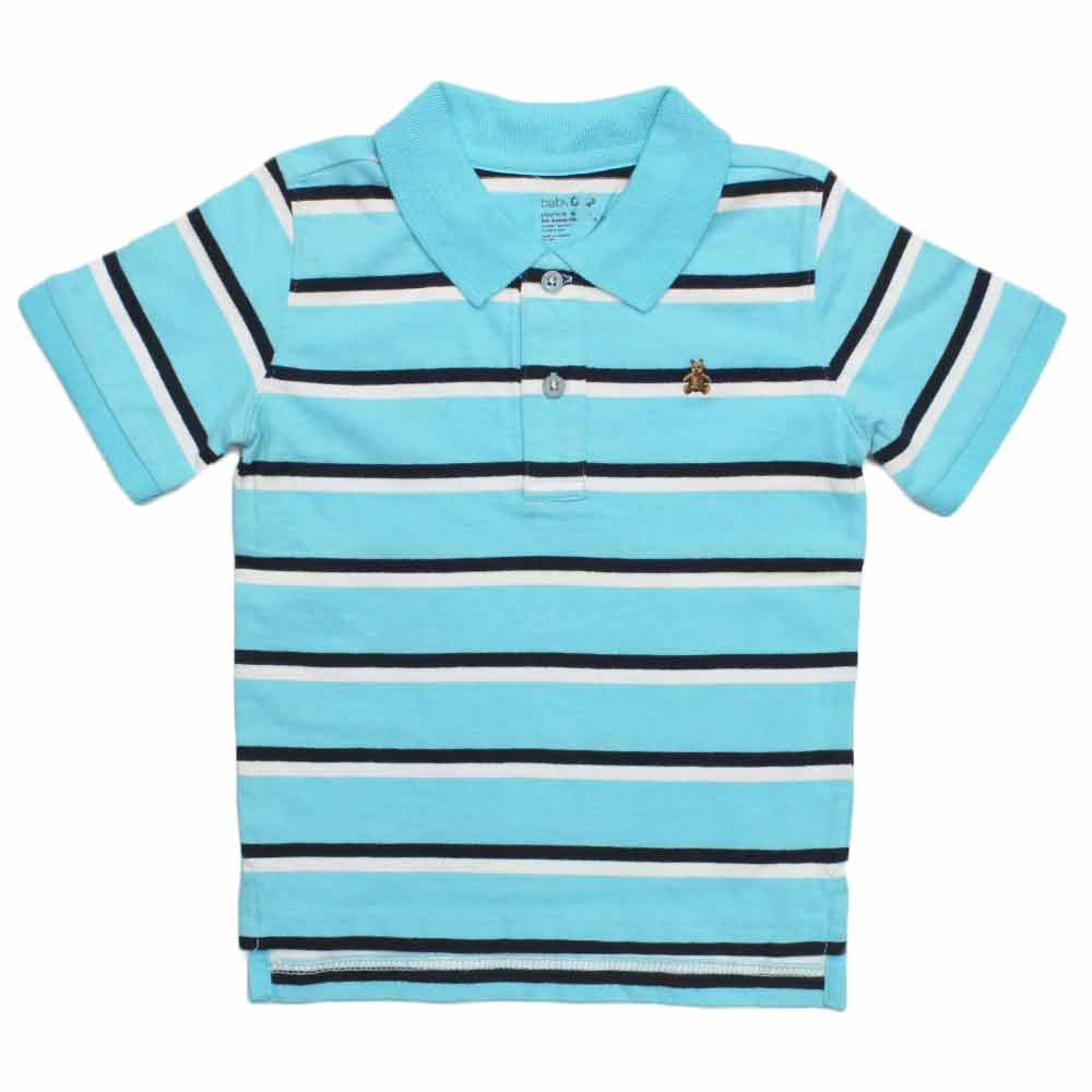 BABY GAP( Cut Label ) Yarn Dyed Blue Polo