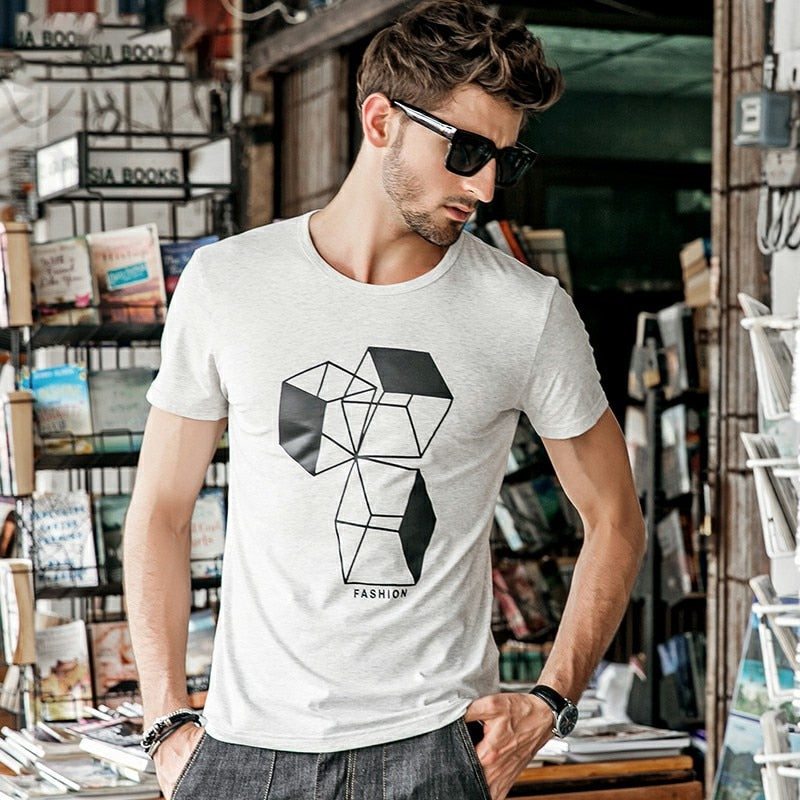 Men Fashion Printing Tee Shirt