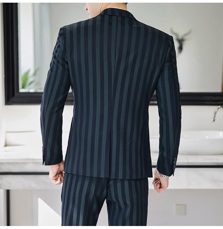 Men casual striped suits