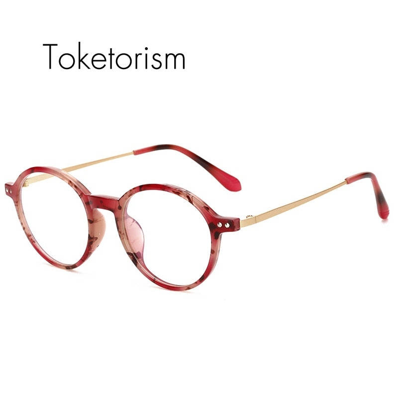 Retro round eyeglasses