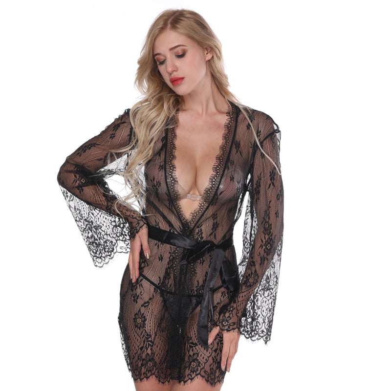1dc1a4afee6 Silk Satin Lace Nightgown – shop4-Ladies