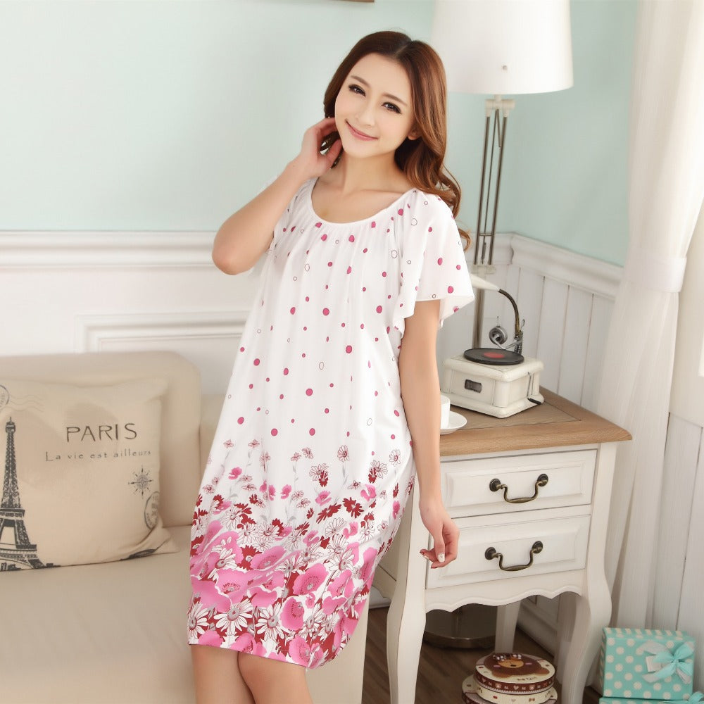 Plus Size Nightgowns For Women 2018 Summer Dressing Gowns Girls ...