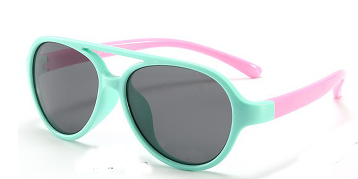 Baby Sunglasses Flexible Aviators Pink & Mint