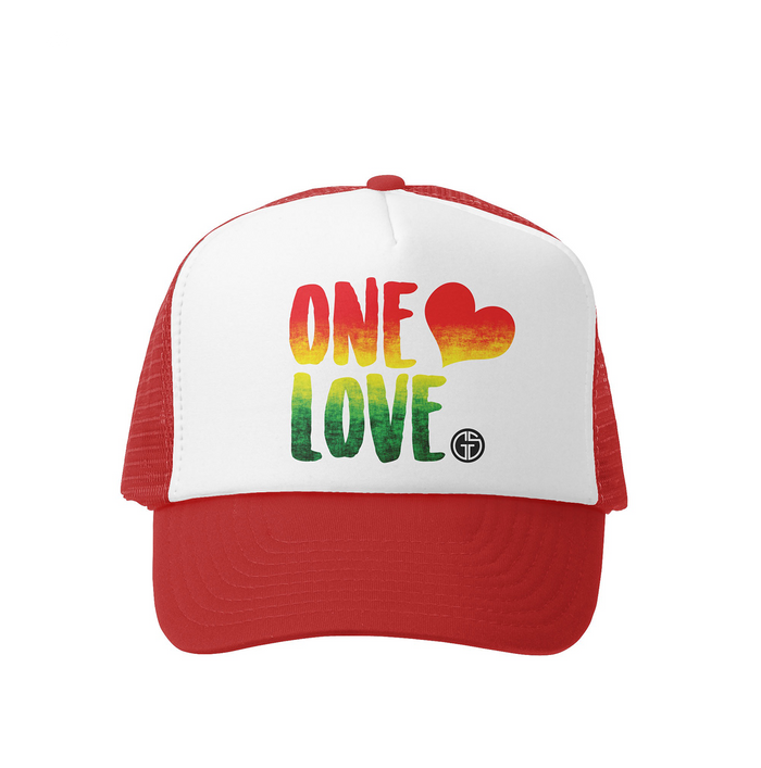 One Love Trucker Hat- Grom Squad