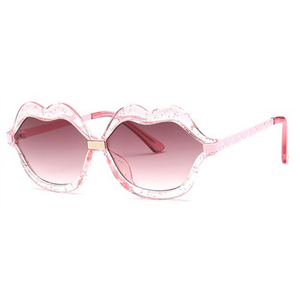 Kids Sunglasses Glitter Pink Kiss