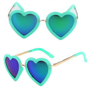 Kids Sunglasses Retro Heart Shape