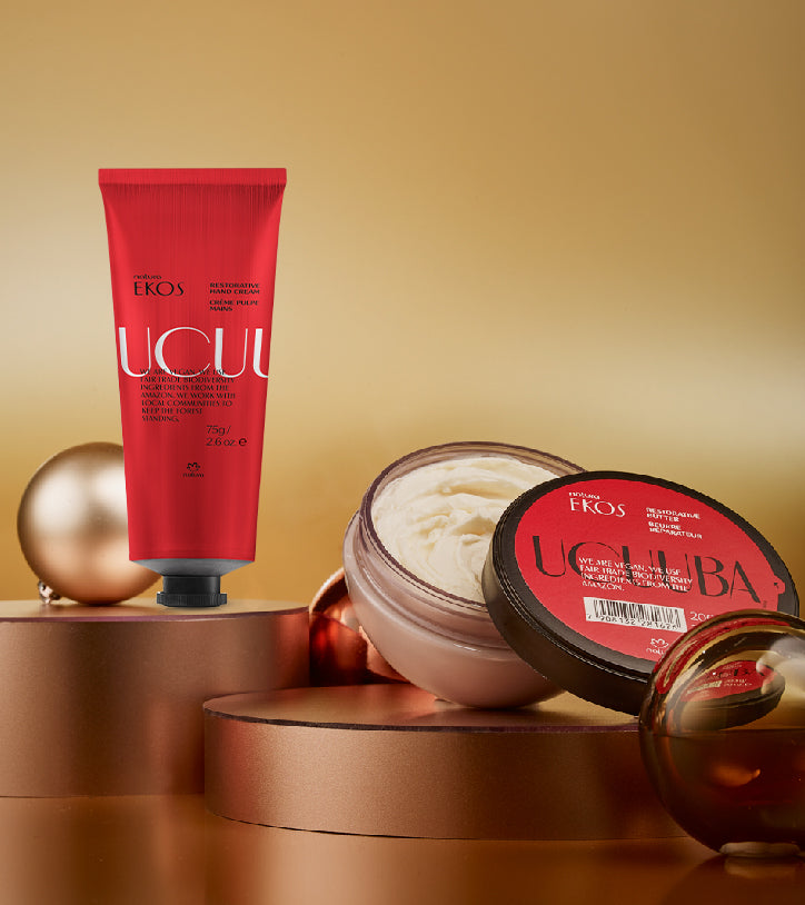 Give the gift of ultra-hydration with two Ucuuba best sellers in our vibrant gift box.