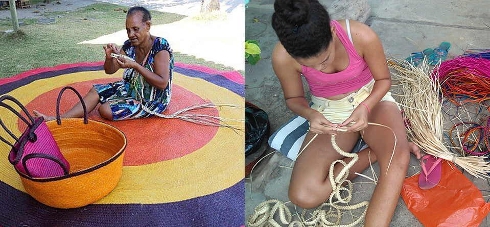 Women Association Braiding Raffia Bags