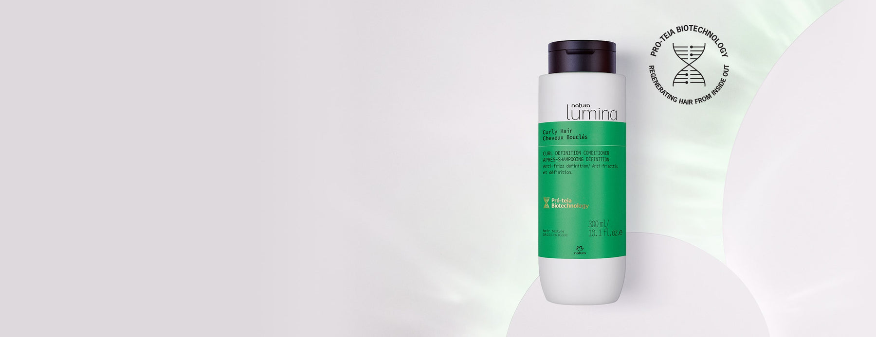 Curl Definition Conditioner for Curly Hair Lumina - Natura