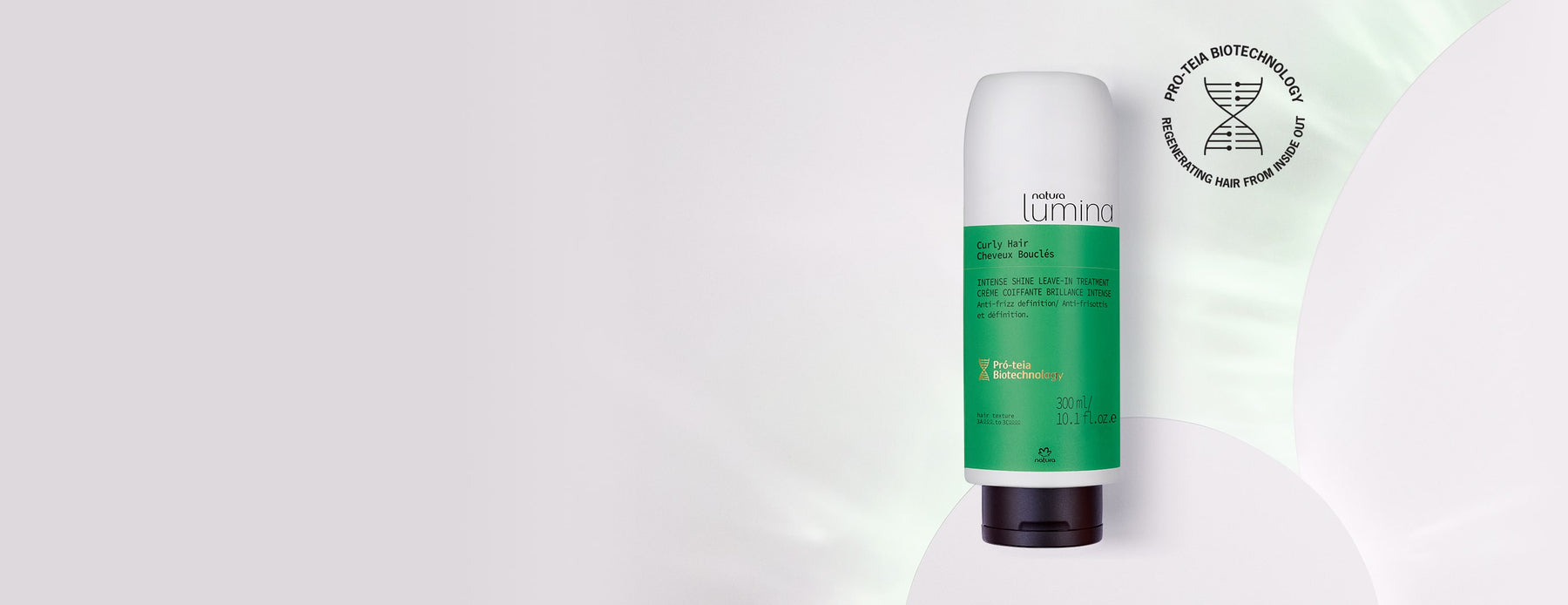 Intense Shine Leave-In Treatment for Curly Hair Lumina - Natura