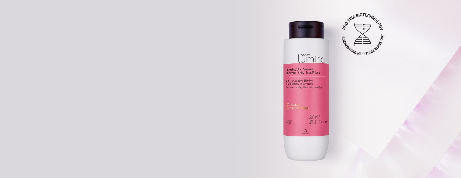 Restructuring Shampoo for Curly Hair Lumina - Natura