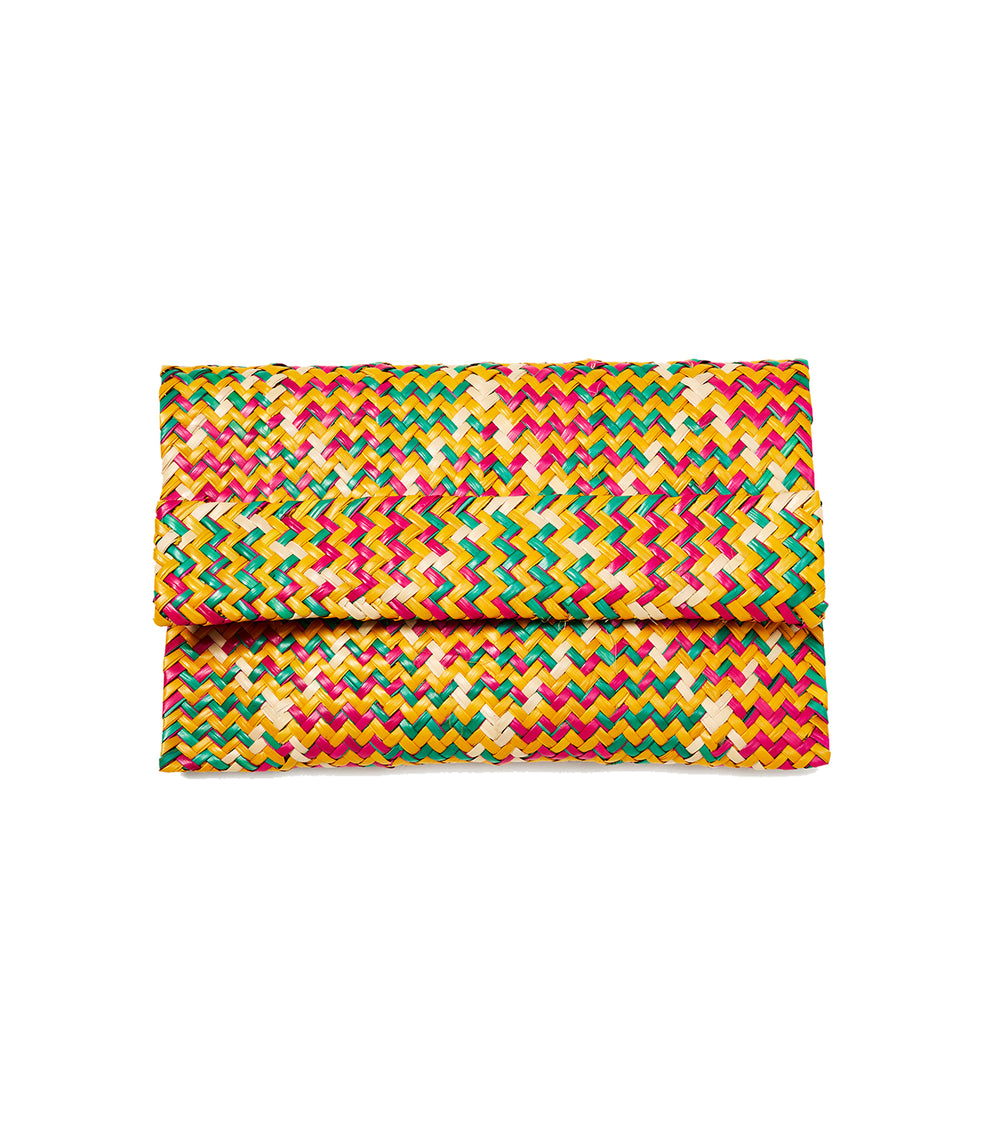 Multicolor Raffia Clutch_mobile