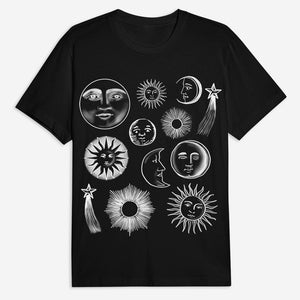 Sun and Moons Tee - Black