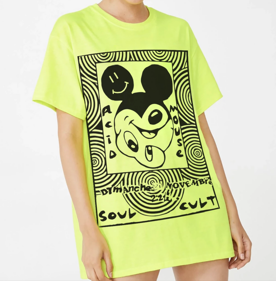 Acid Mouse T-Shirt - Neon
