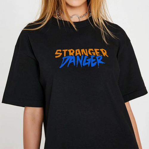 Stranger Danger Tee - White / Black