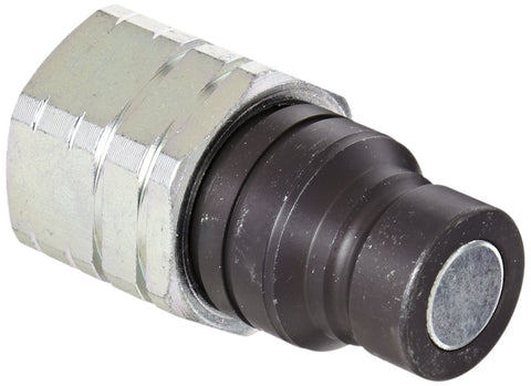 "Eaton Hansen 12FFP50 Steel Hydraulic Quick Coupler, Flat Face, Male, 1/2"" NPT."