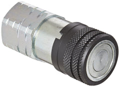 "Eaton Hansen 12FFS50 Steel Hydraulic Quick Coupler, Flat Face, Female, 1/2"" NPT."