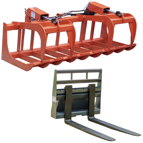 Root Grapple & Pallet Forks Combo