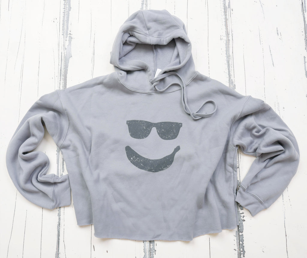 Smiley Cropped Hoodie