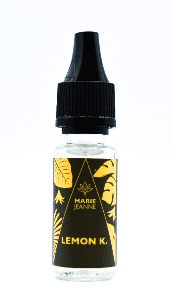E liquide Marie Jeanne Lemon Kush Disponible en 0MG, 100 MG et 300 MG