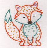Anchor Freestyle Fox Embroidery Kit Finished Result