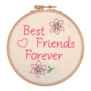 Best Friends Forever Embroidery Hoop Kit