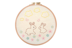 Bunnies and Butterflies Embroidery Hoop Kit