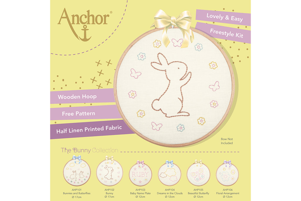 Anchor Bunny Embroidery Hoop Kit Packaging