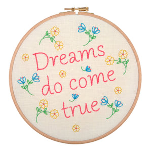 dreams do come true embroidery kit by anchor