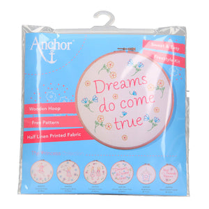 dreams do come true embroidery kit by anchor packaging