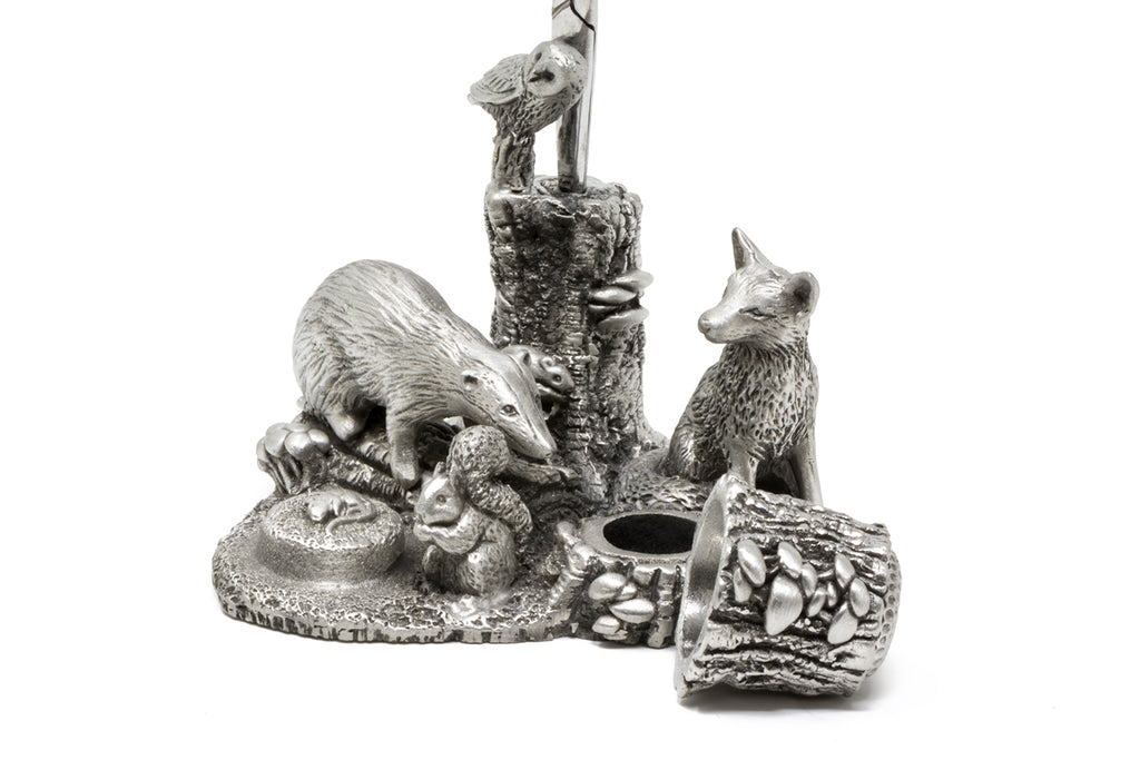 Pewter Sewing Accessories Including Thimble and Scissors
