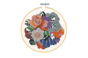 DMC Floral Decoration Cross Stitch Kit
