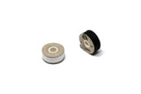 White and Black Thread Bobbins for Clothes Repair Kit