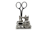 Pewter Sewing Machine Sewing Station