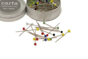 Glass Headed Sewing Pins