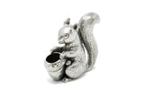 A E Williams Pewter Squirrel and Acorn Pin Cushion