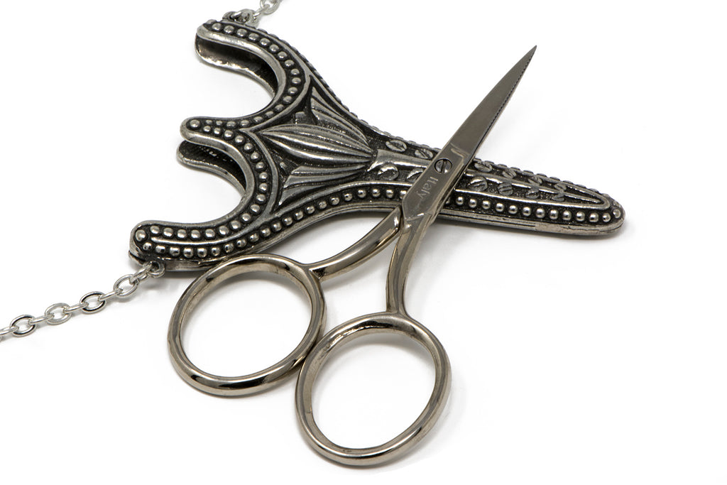 Vintage Pewter Sewing Scissors