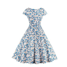Load image into Gallery viewer, V-Neck A-Line Butterfly Print Short Sleeves Dress