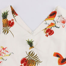 Load image into Gallery viewer, Plus Size V-Neck Fruit Printing Full Dress