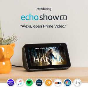 Introducing Echo Show 5 - Compact smart display with Alexa - Charcoal - Soul Rich Village