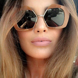 Sunglasses Women  Fashion Designer Eyewear UV400  Female  Sun Glasses Brand Points Sun Girl