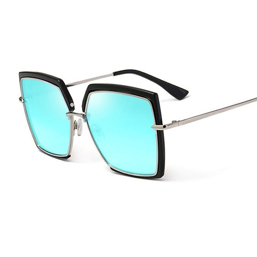 Cat Eye Pink Sunglasses Woman Shades Mirror Female Square Sun Glasses For Female - Soul Rich Village