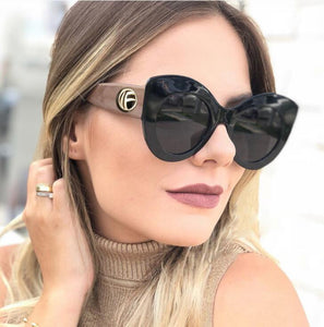 Oversize Women Cat Eye Sunglasses Fashion Ladies Pink Sun Glasses UV400
