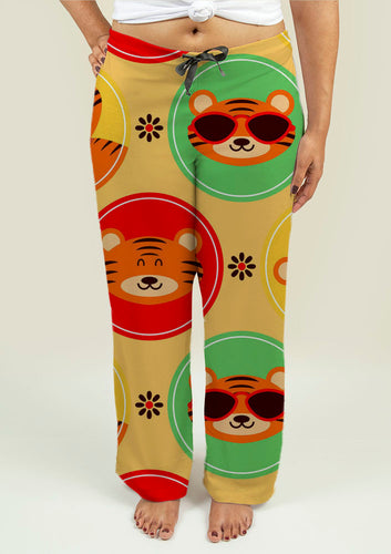 Ladies Pajama Pants with Baby Tigers - Soul Rich Village