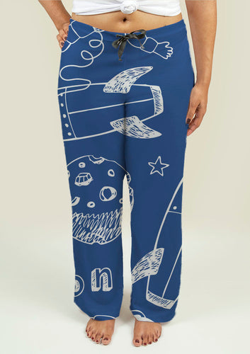 Ladies Pajama Pants with Rockets - Soul Rich Village