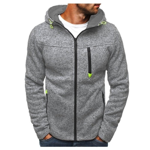 Fashion Men's Sweatshirts Zipper Hoodies Bodybuilding Jogger Workouts Cotton Fleece Hoody Hooded Sweatshirt Men Clothes Hombre - Soul Rich Village