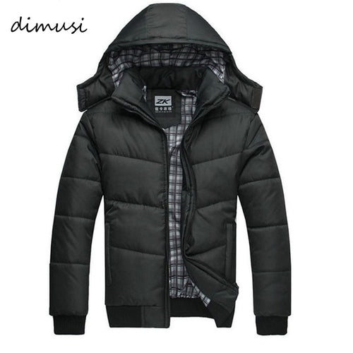 DIMUSI Men's Winter Men Jackets New Arrival Male Cotton Thick Warm Parkas Casual Outwear Windbreaker Mens Hoodies 4XL ,YA294 - Soul Rich Village