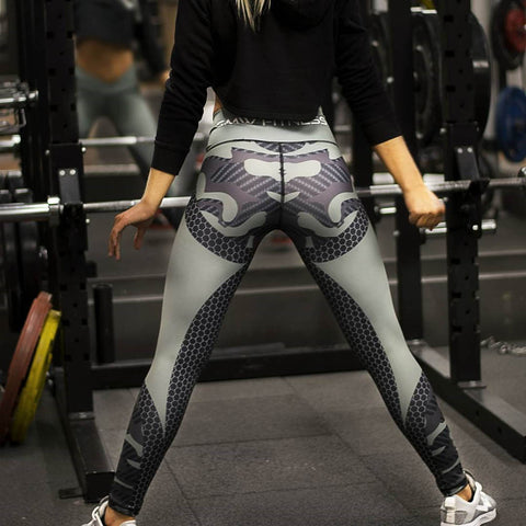 Carbon Camo Pattern Leggings